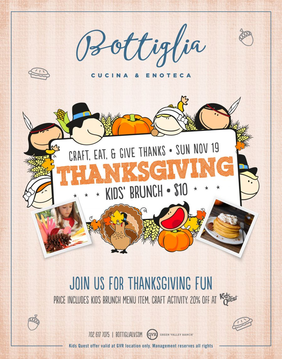 Come Join us at Bottiglia for Our Thanksgiving Kids Brunch
