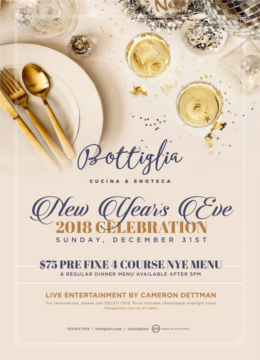 Celebrate New Year's Eve in Style at Henderson Restaurant Bottiglia