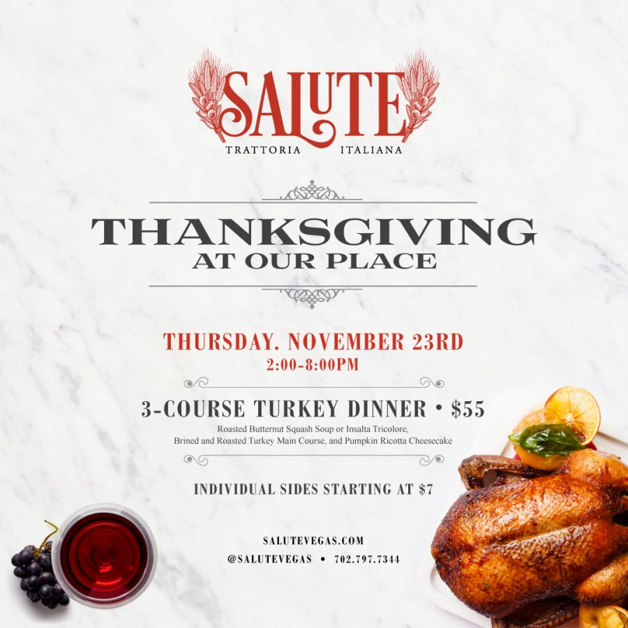 Come Celebrate Thanksgiving At Our Place—Right Here at Salute