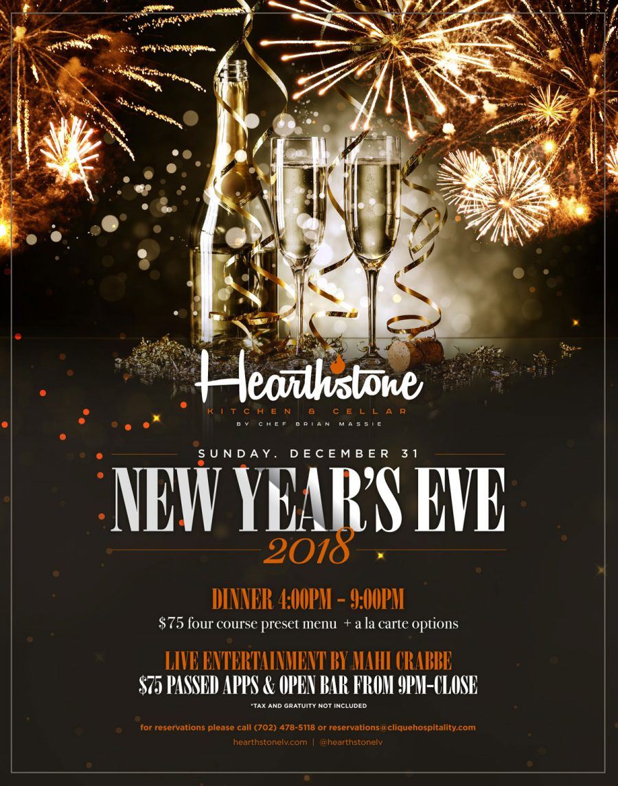 Come Celebrate New Year's Eve in Summerlin at Hearthstone