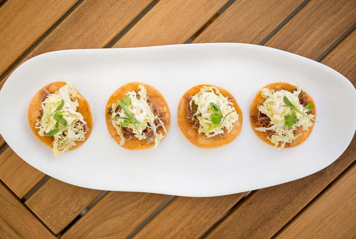 Duck Tostadas Pool House San Diego