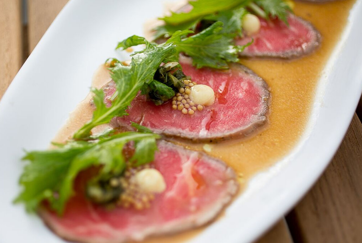 NY Steak Tataki Pool House San Diego