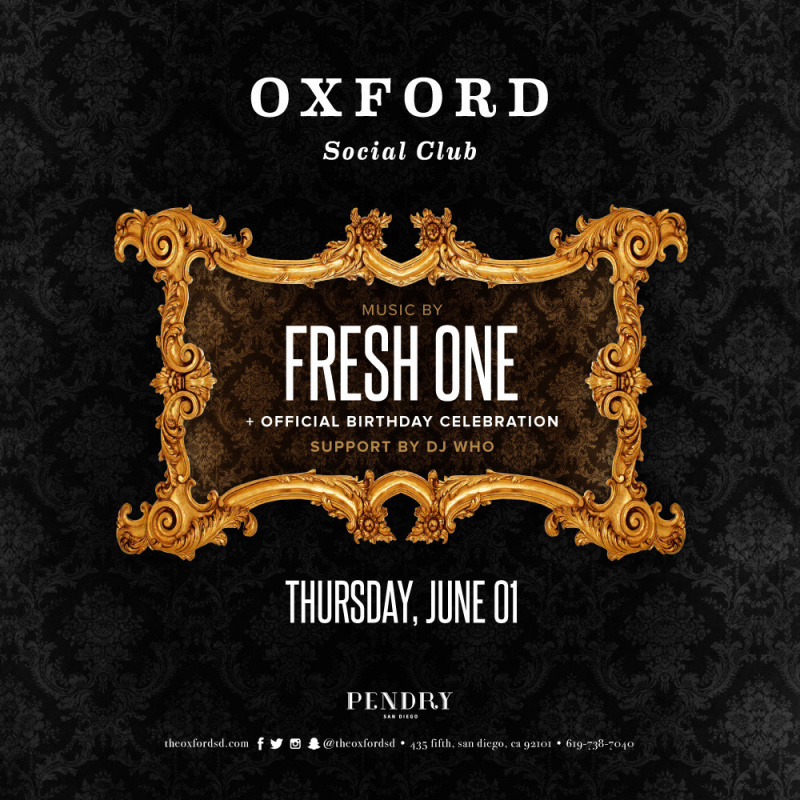 Fresh One – Oxford Social Club June 1, 2017