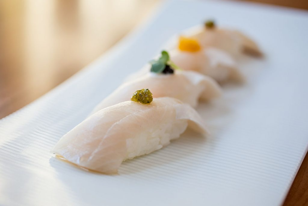 Lionfish Hiramasa Nigiri Flight