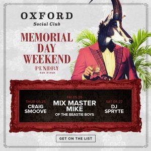 Memorial Day Weekend Oxford Social Club