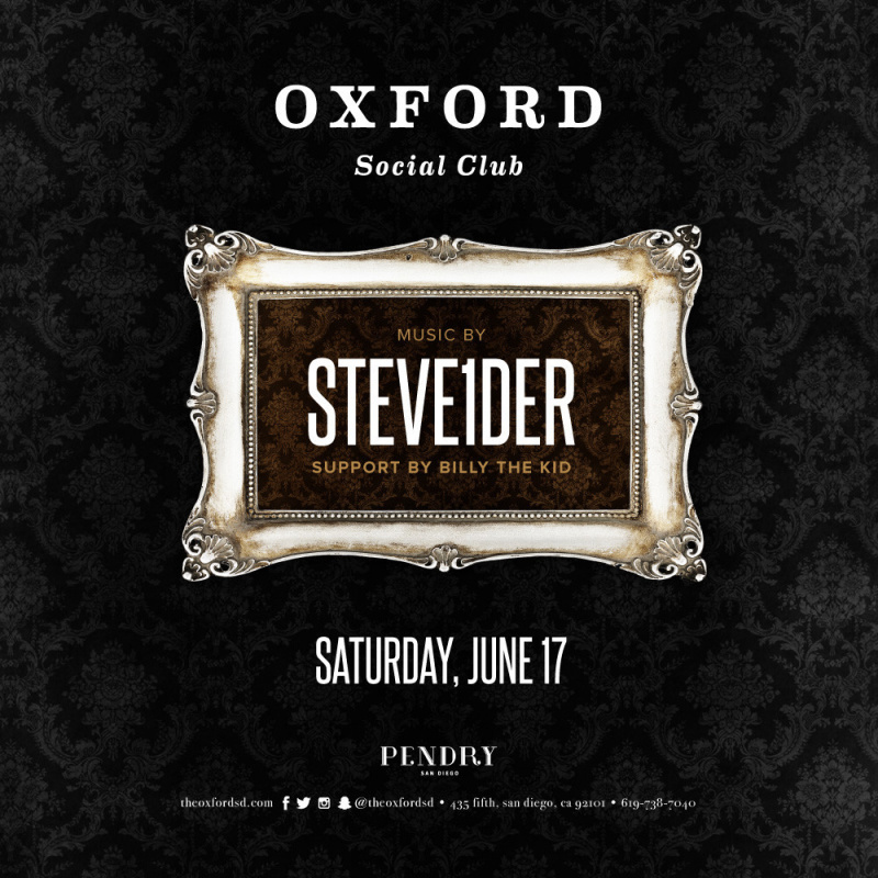 Steve1der – Oxford Social Club June 17, 2017