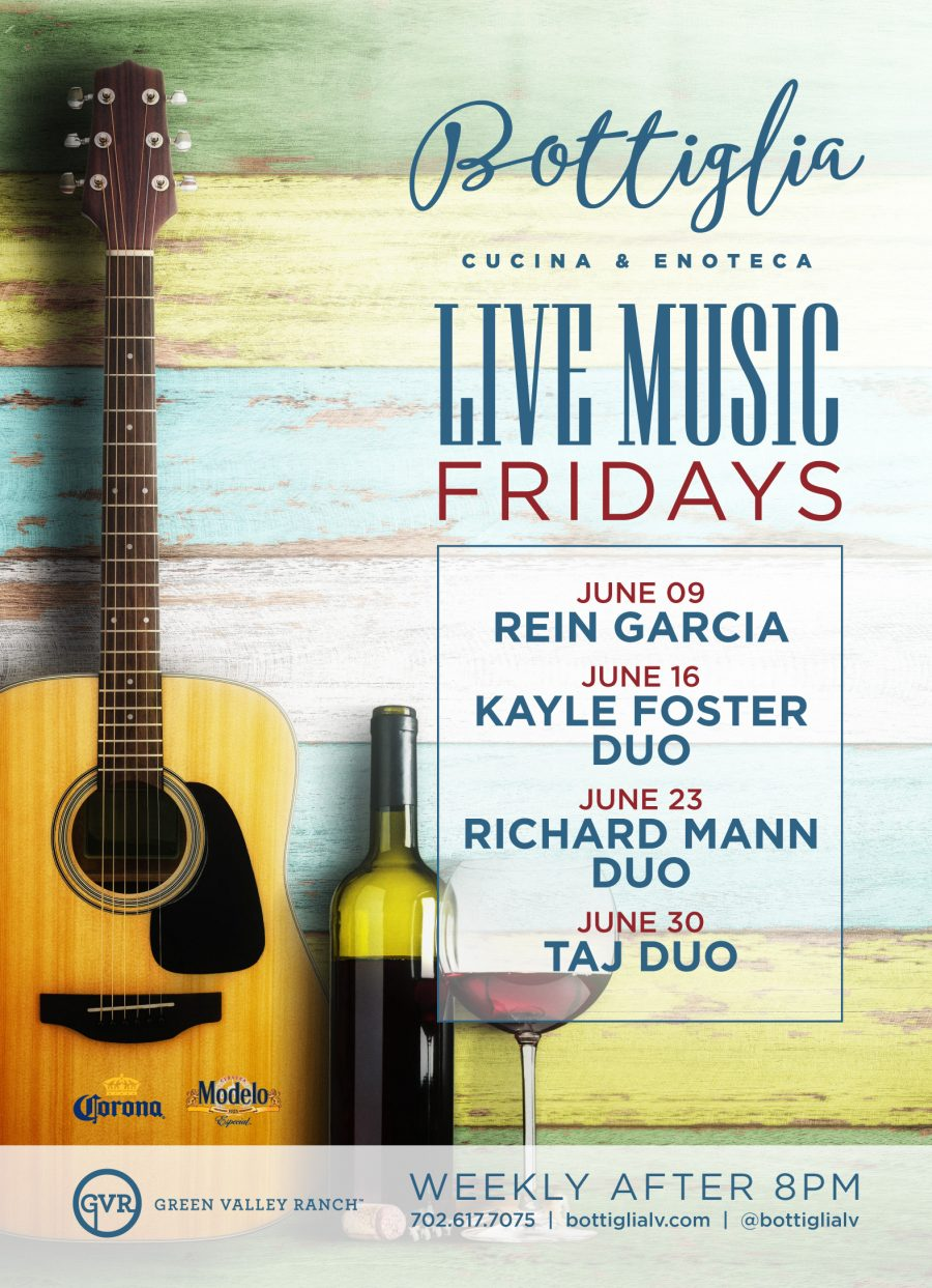 Enjoy Live Music Every Friday Night at Bottiglia