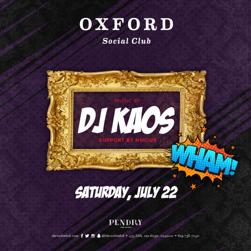 DJ Kaos – Oxford Social Club July 22, 2017