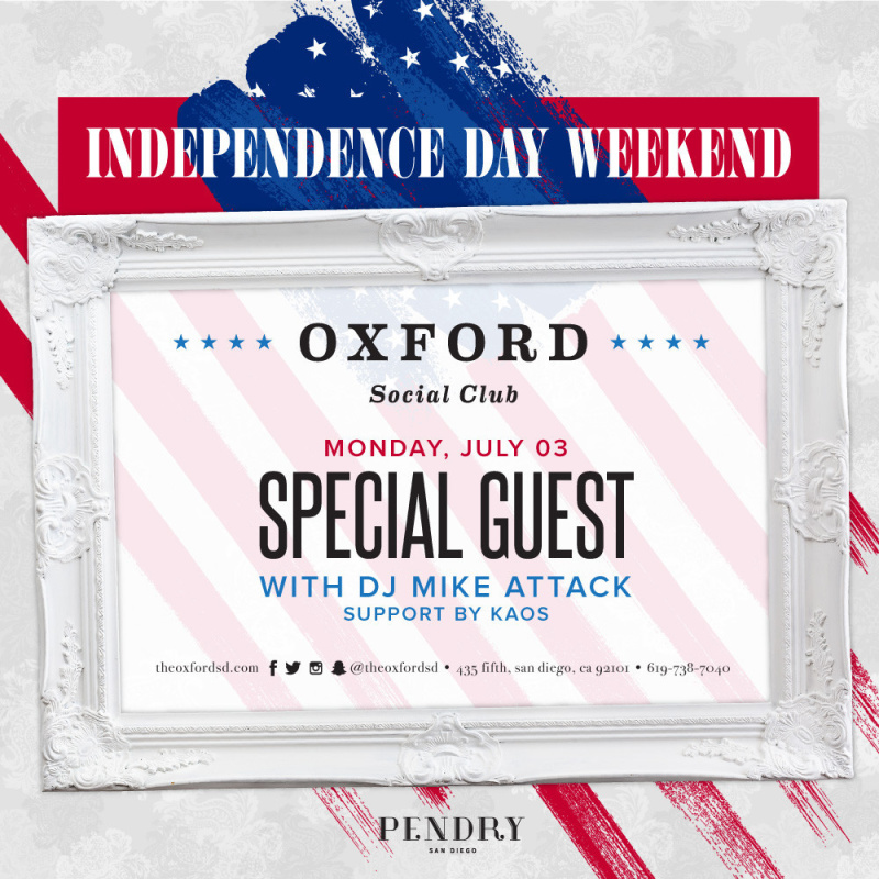 Independence Day Weekend | Oxford Social Club