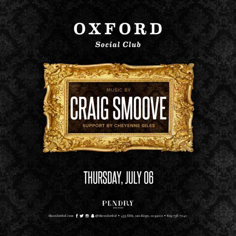 Craig Smoove – Oxford Social Club July 6, 2017