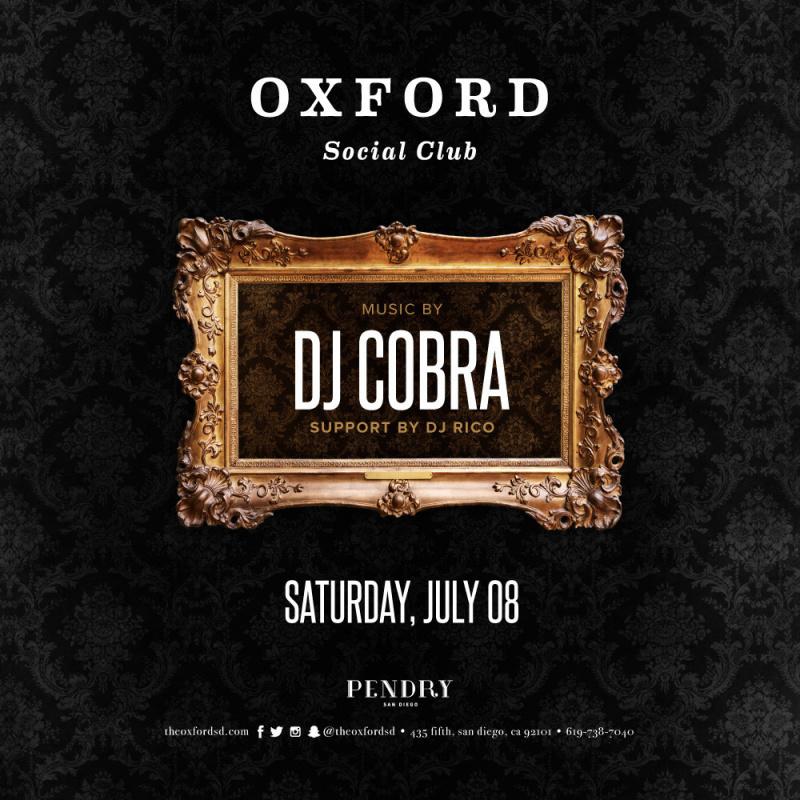 DJ Cobra – Oxford Social Club July 8, 2017