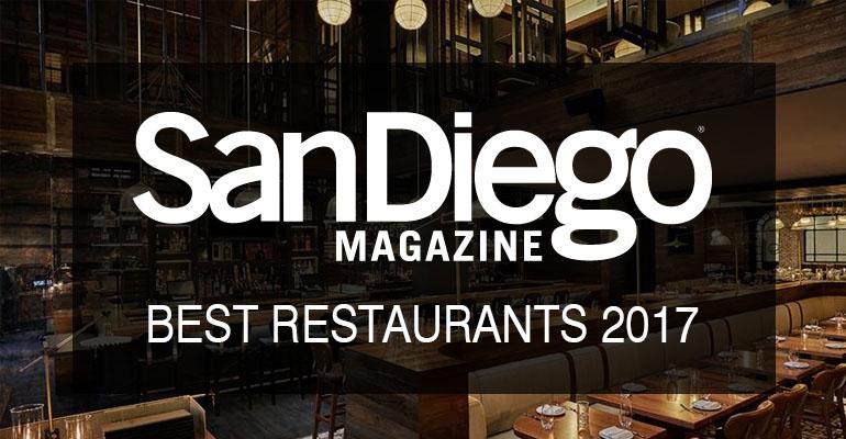 San Diego Magazine Reader's Pick For 2017 Best Hotel Restaurant