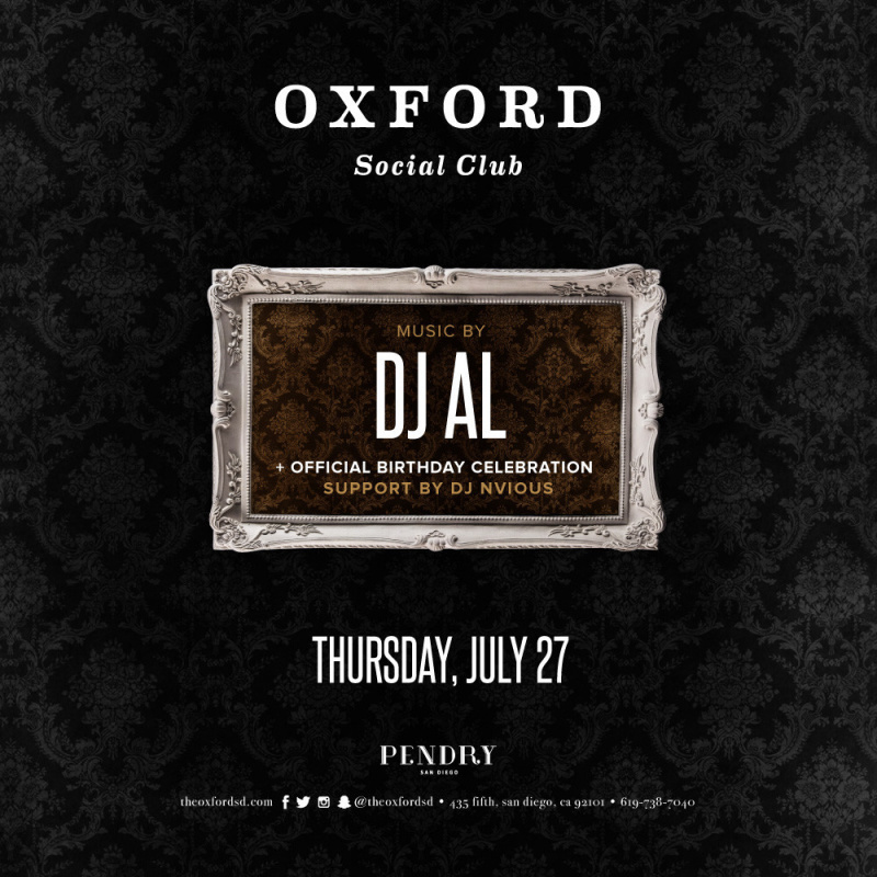 DJ AL – Oxford Social Club July 27, 2017