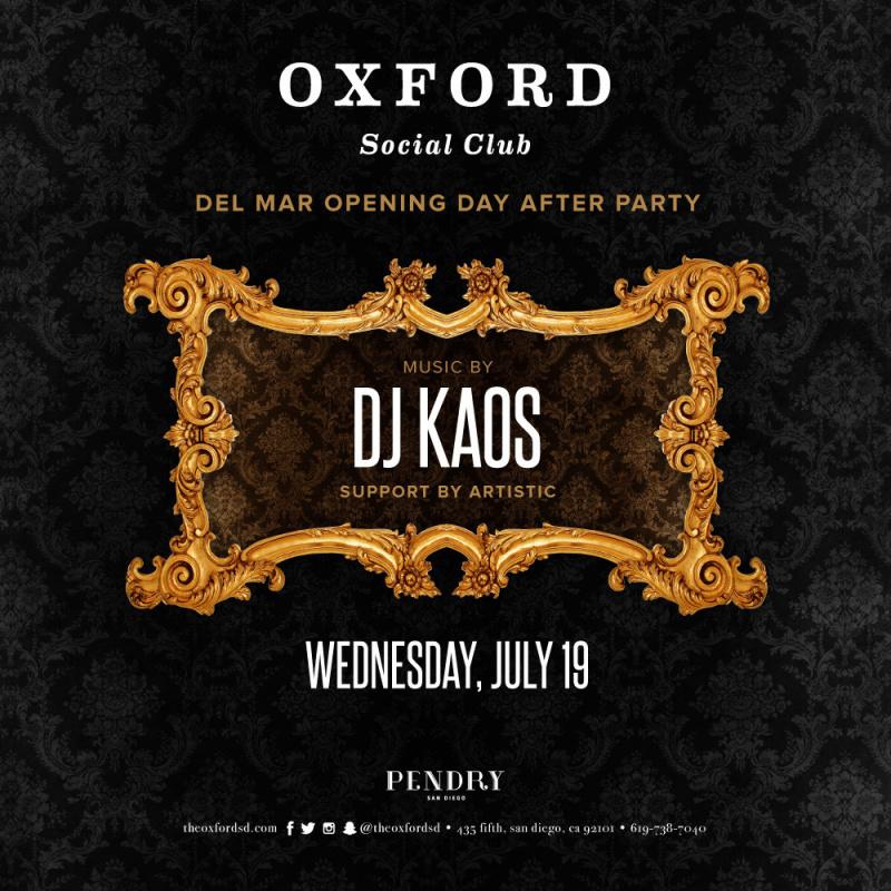 DJ Kaos – Oxford Social Club July 19, 2017