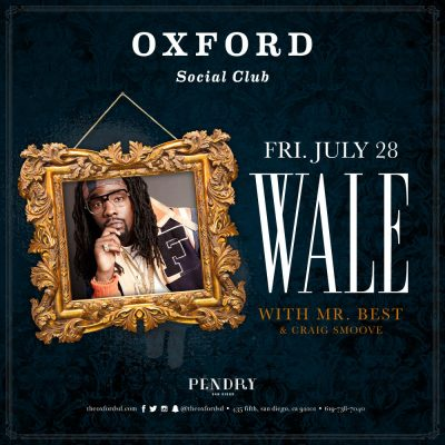 Wale – Oxford Social Club July 28, 2017