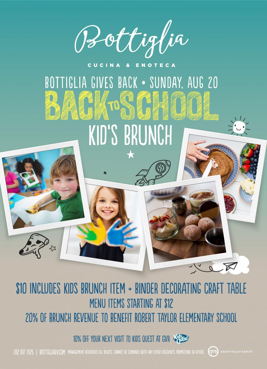 Come Join Bottiglia For Their Back to School Kid's Brunch