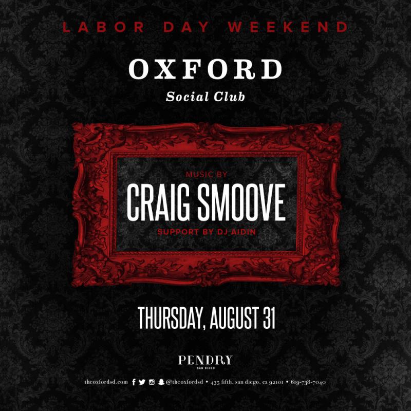 Craig Smoove – Oxford Social Club August 31, 2017