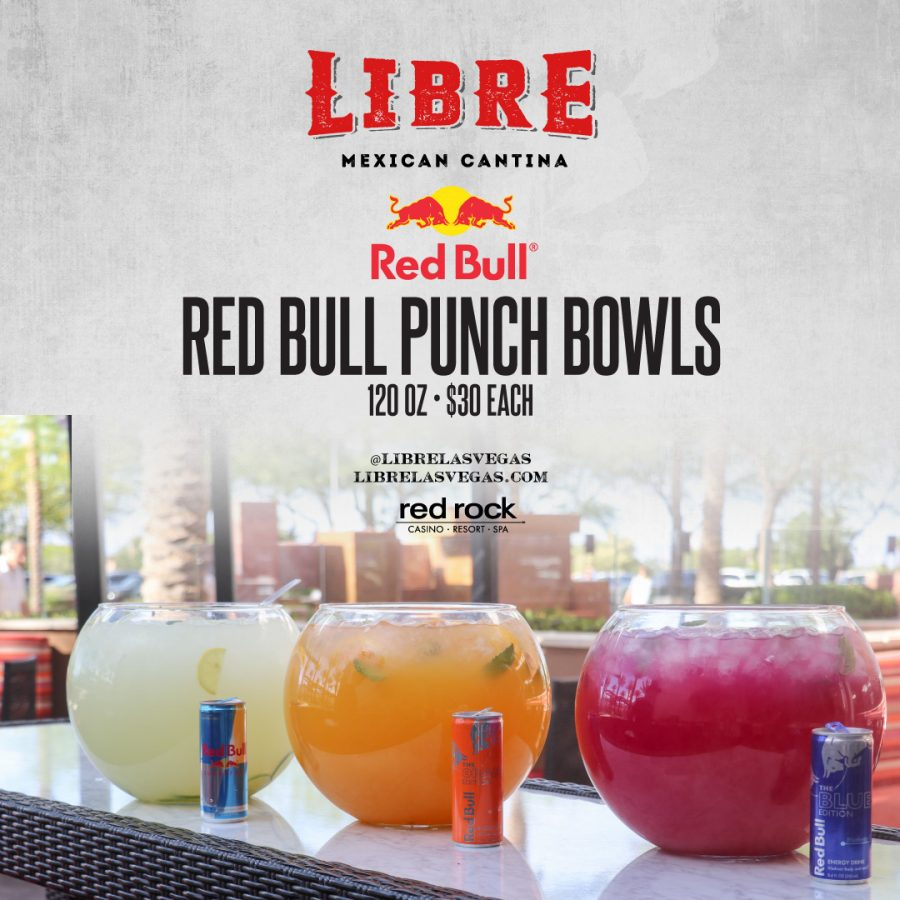 Kick Off Your Night Right at Libre With Red Bull Punch Bowls