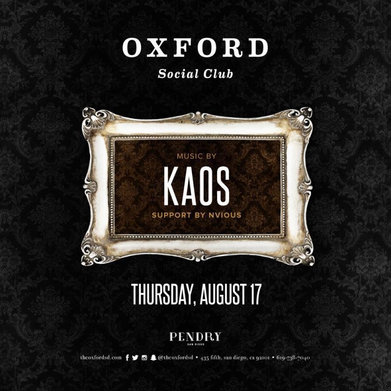 Kaos – Oxford Social Club August 17, 2017