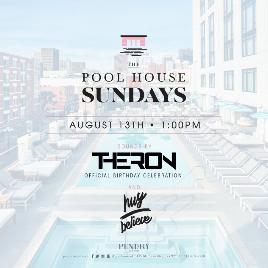 Theron – The Pool House August 14, 2017