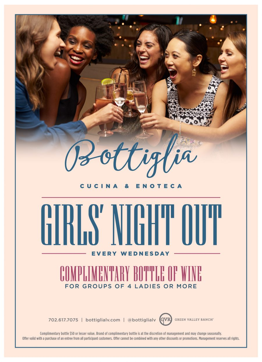 Come Celebrate Girls Night Out Every Wednesday at Bottiglia