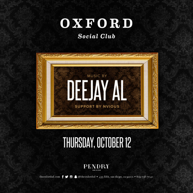 Deejay Al – Oxford Social Club October 12, 2017