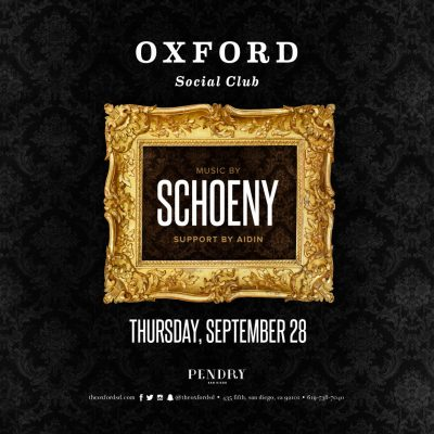DJ Schoeny – Oxford Social Club September 28, 2017