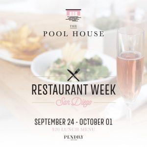 Pool House Restaurant Week San Diego