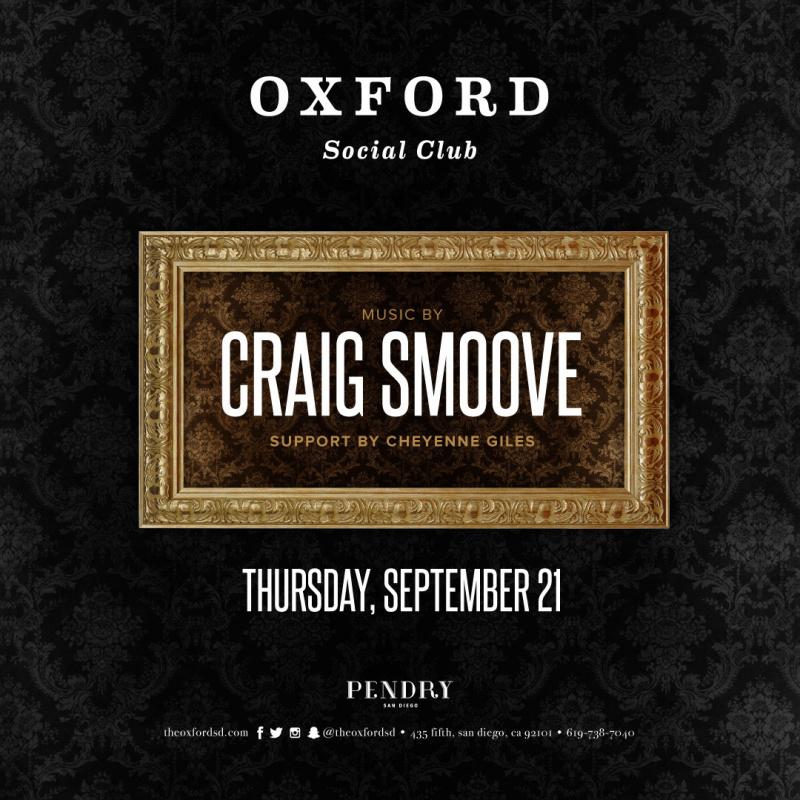 Craig Smoove – Oxford Social Club September 21, 2017