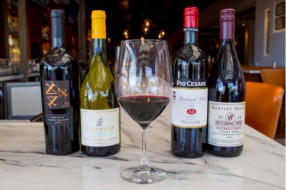 Salute Menu Wine Pairings
