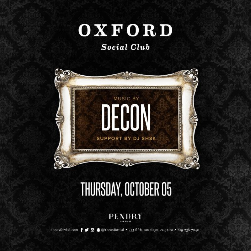 Decon – Oxford Social Club October 5, 2017