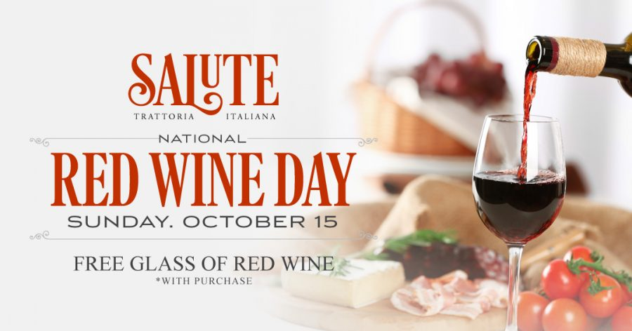 Free Wine! Celebrate National Red Wine Day at Summerlin Restaurant Salute on October 15!