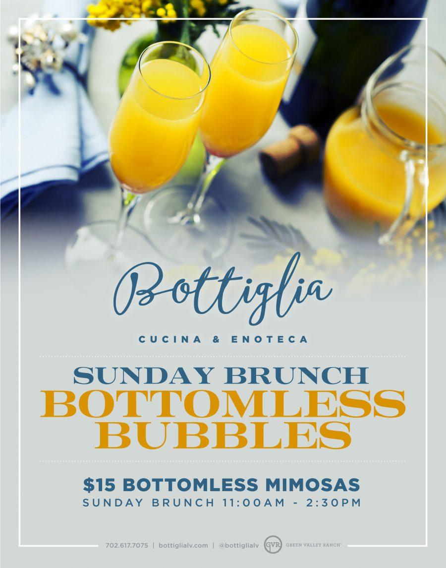 Come Join Your Favorite Henderson Restaurant Bottiglia on Sundays for Bottomless Mimosas
