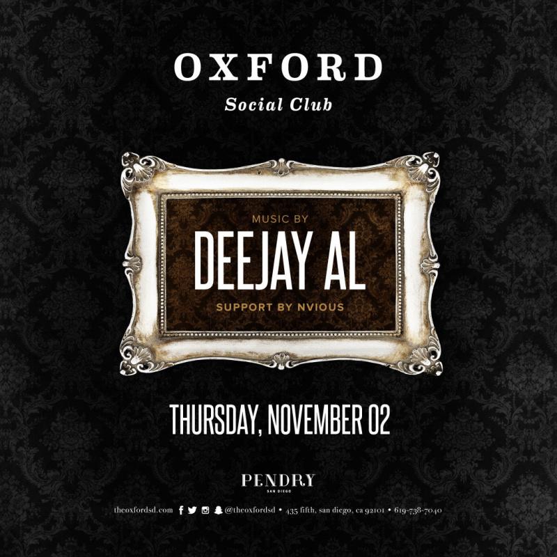 Deejay AL – Oxford Social Club November 2, 2017