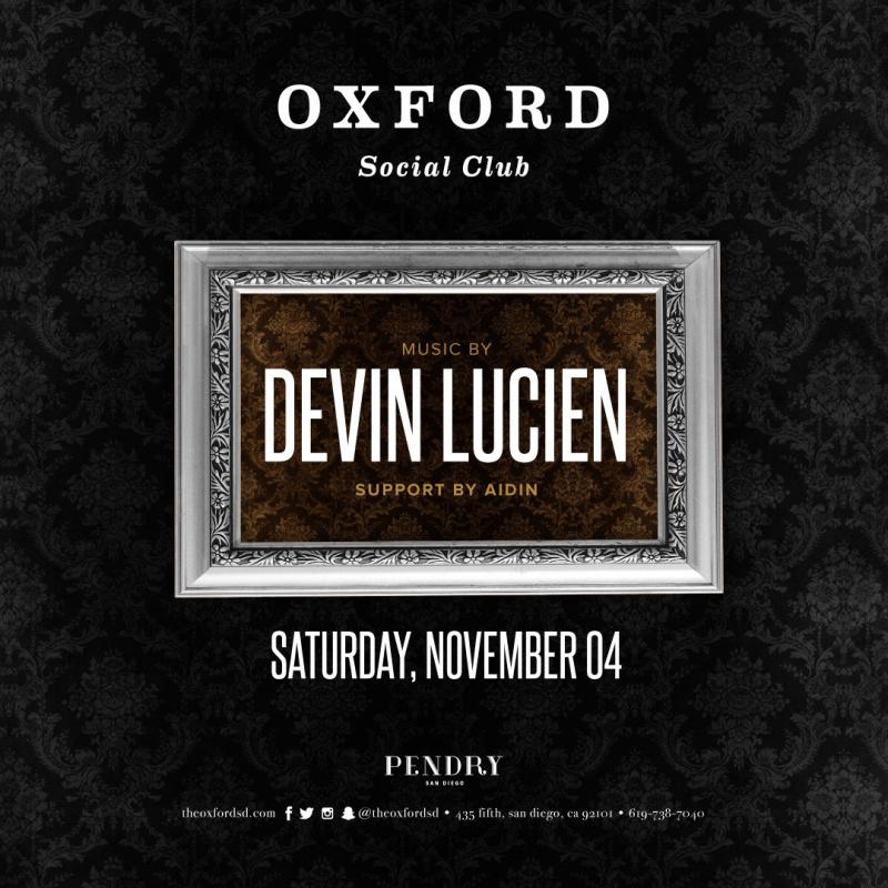 Devin Lucien – Oxford Social Club November 4, 2017