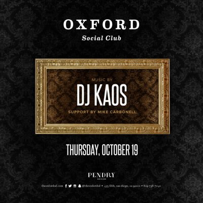 DJ Kaos – Oxford Social Club October 19, 2017