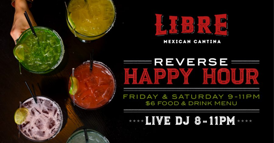 Libre: Our Summerlin Reverse Happy Hour Featuring a Live DJ!