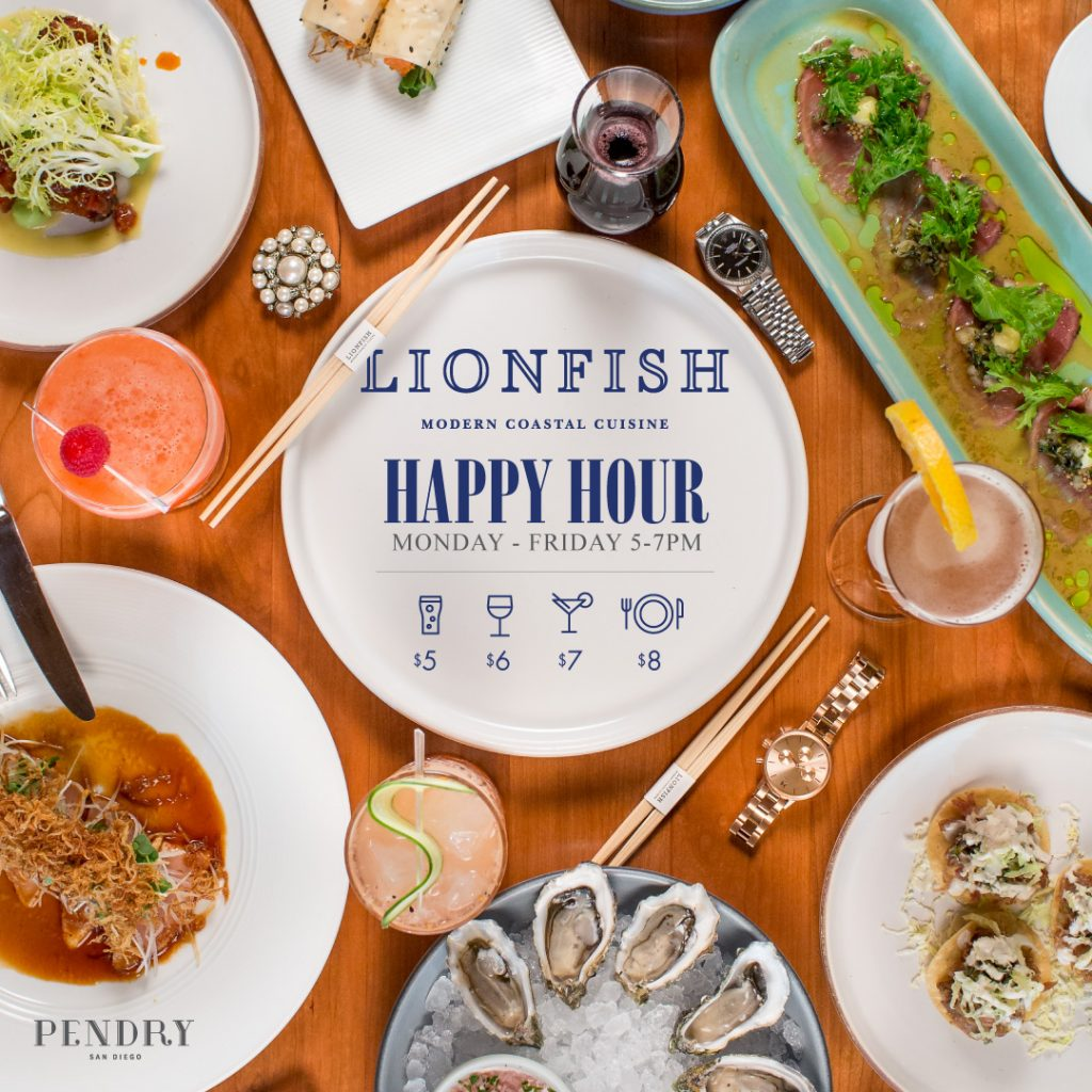 Lionfish San Diego Restaurant Happy Hour