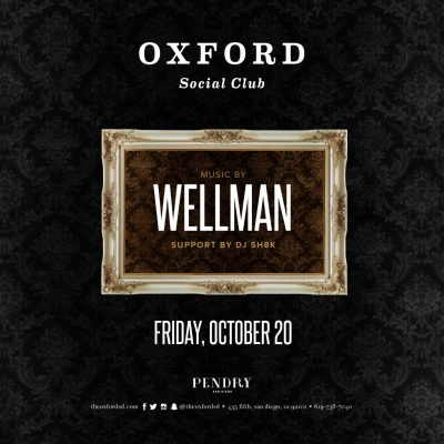 Wellman – Oxford Social Club October 20, 2017