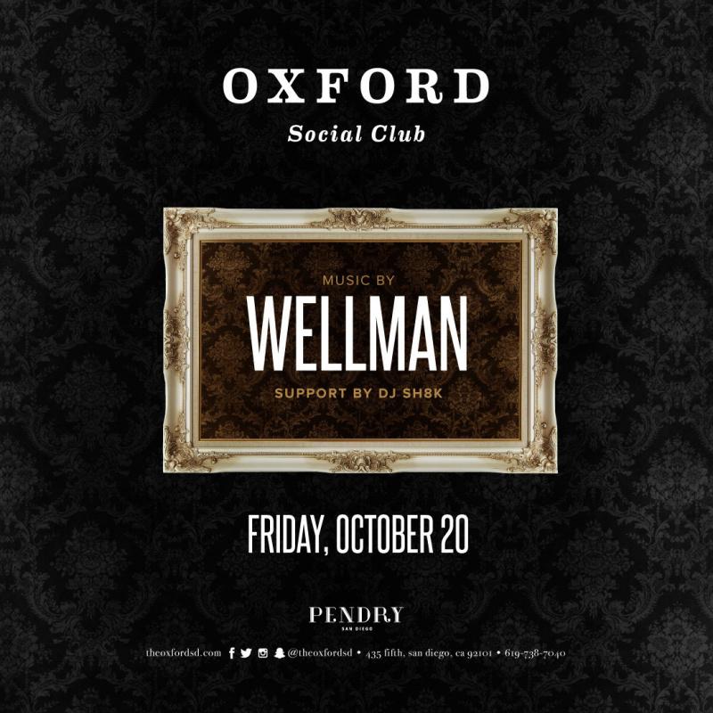 Wellman – Oxford Social Club October 20, 2017