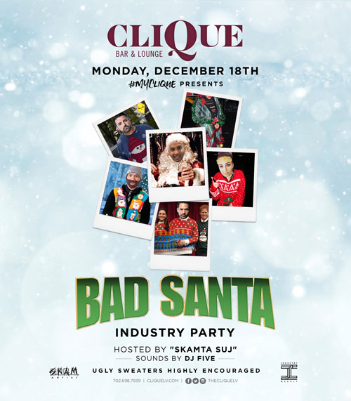 Let Loose This Christmas With CliQue's Bad Santa Party