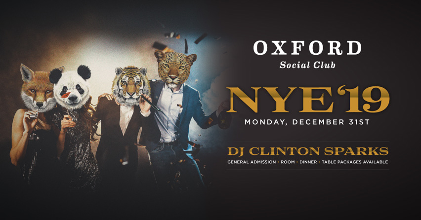 New Years Eve | The Oxford Social Club