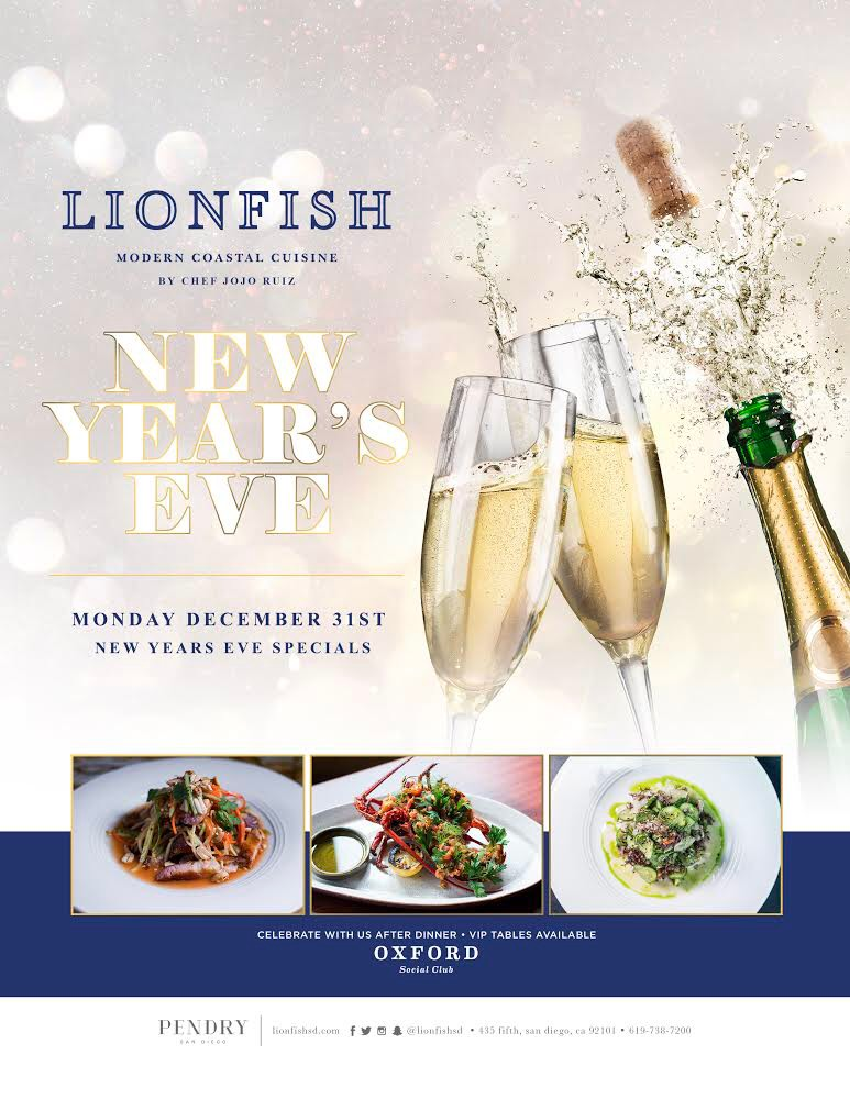 Lionfish San Diego New Years Eve