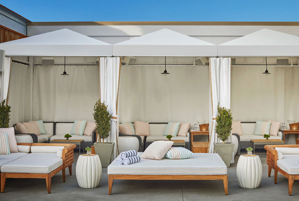 Daybeds and Cabanas at The Pool House