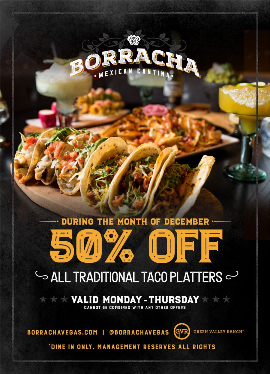 Enjoy Half Off Traditional Taco Plates All December Long at Henderson Restaurant Borracha