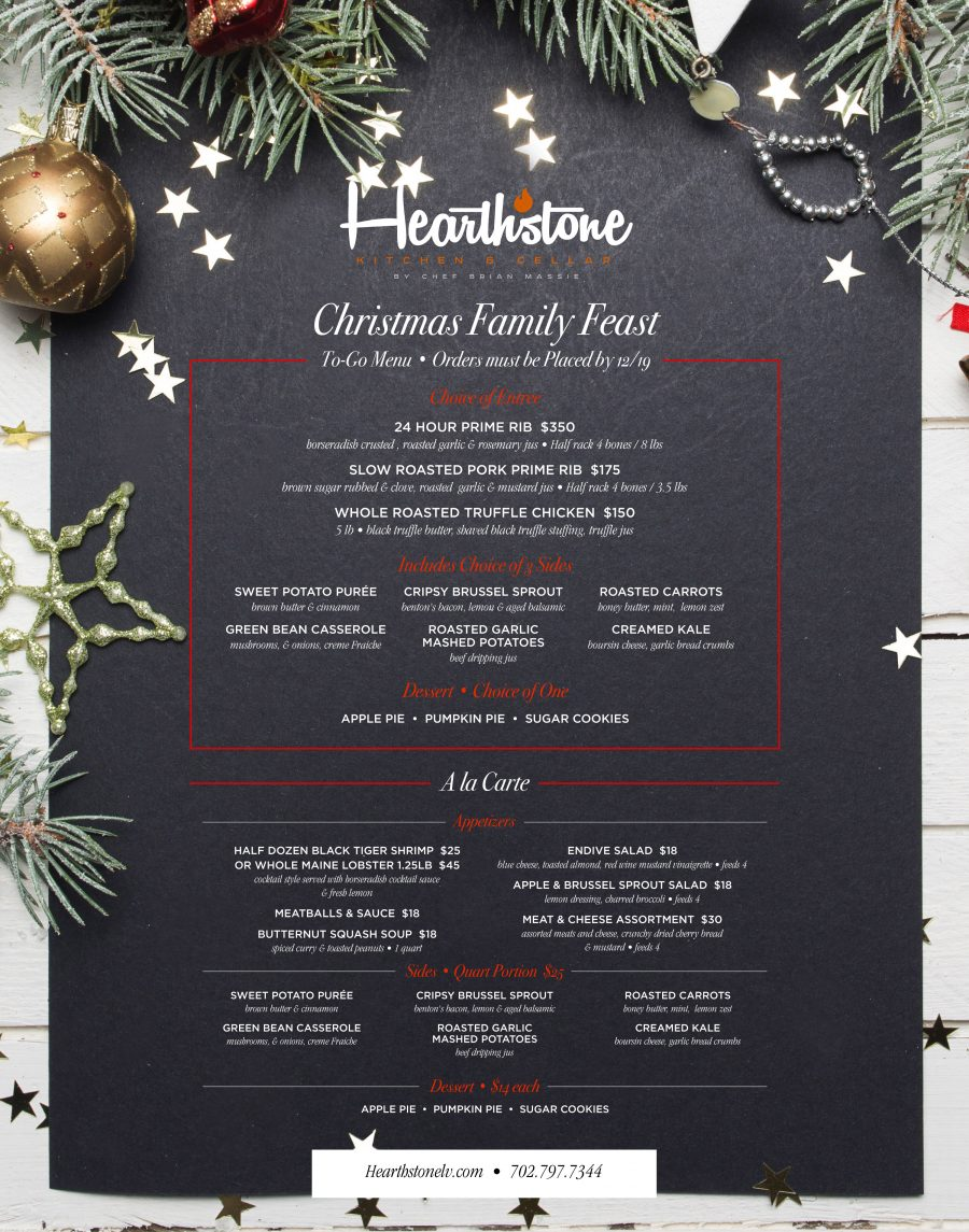 Celebrate The Holidays at Hearthstone With Our Christmas Family Feast