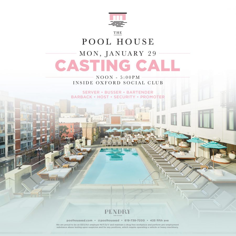 Pool House Casting Call