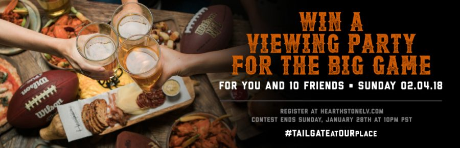 Come Win Your Dream Super Bowl Party Package at Hearthstone