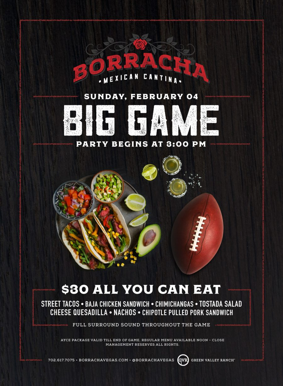 All You Can Eat Super Bowl Special at Borracha!