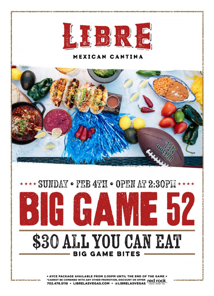 Celebrate the Super Bowl at Summerlin Restaurant Libre Mexican Cantina!